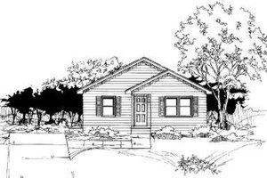 Ranch Exterior - Front Elevation Plan #334-111