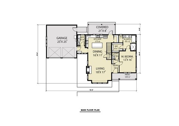 Farmhouse Floor Plan - Main Floor Plan #1070-69