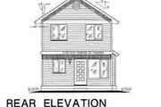 Colonial Style House Plan - 3 Beds 3 Baths 1121 Sq/Ft Plan #18-2005 Exterior - Rear Elevation