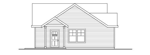 Traditional Exterior - Other Elevation Plan #124-790 - Houseplans.com