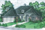 European Style House Plan - 3 Beds 2 Baths 1324 Sq/Ft Plan #16-115 Exterior - Front Elevation