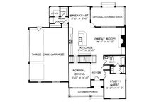 Craftsman Floor Plan - Main Floor Plan Plan #413-102