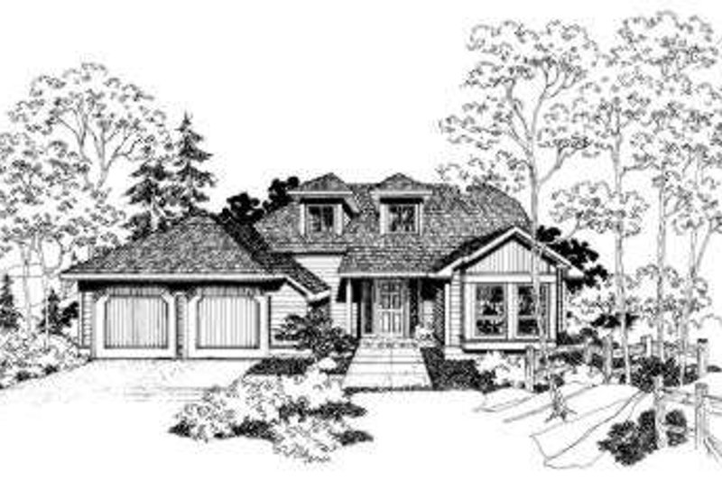Traditional Style House Plan - 3 Beds 2.5 Baths 1833 Sq/Ft Plan #303-105 Exterior - Front Elevation
