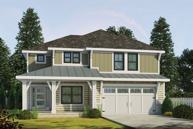 Dream House Plan - Craftsman Exterior - Front Elevation Plan #20-2345