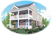 Southern Style House Plan - 3 Beds 2.5 Baths 1749 Sq/Ft Plan #81-455 Exterior - Front Elevation