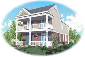 Southern Exterior - Front Elevation Plan #81-455