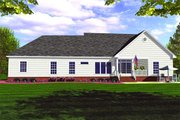 Farmhouse Style House Plan - 3 Beds 2.5 Baths 1852 Sq/Ft Plan #21-127 Exterior - Rear Elevation
