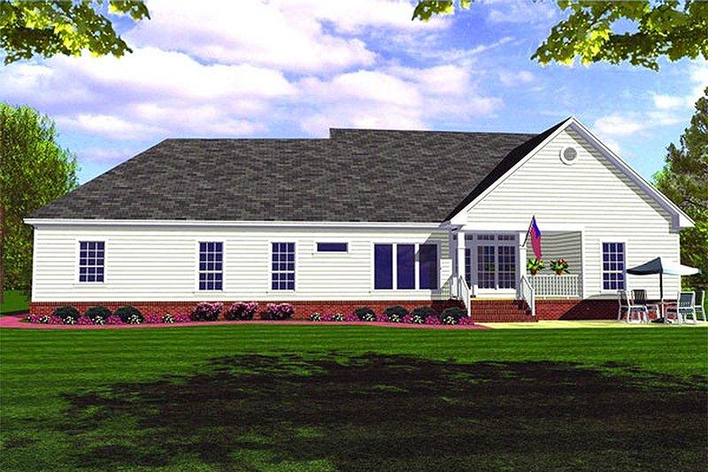 Farmhouse Exterior - Rear Elevation Plan #21-127 - Houseplans.com