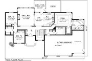 Ranch Style House Plan - 3 Beds 2 Baths 2105 Sq/Ft Plan #70-1118