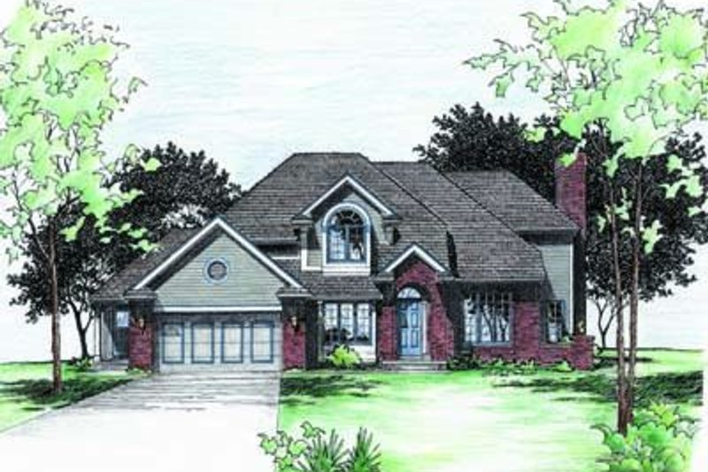 Traditional Exterior - Front Elevation Plan #20-905 - Houseplans.com