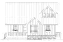 Country Exterior - Front Elevation Plan #932-2