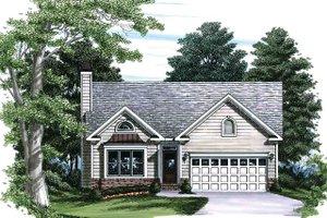 Cottage Exterior - Front Elevation Plan #927-19