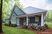 European Style House Plan - 3 Beds 2 Baths 1676 Sq/Ft Plan #929-53 Exterior - Rear Elevation
