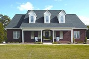 Southern Style House Plan - 4 Beds 3 Baths 1992 Sq/Ft Plan #56-152 Exterior - Front Elevation