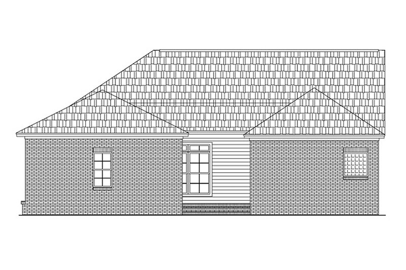 Southern Exterior - Rear Elevation Plan #21-140 - Houseplans.com