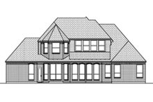 European Exterior - Rear Elevation Plan #84-465