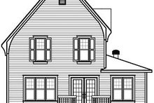 Dream House Plan - European Exterior - Rear Elevation Plan #23-798
