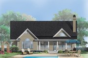 Country Style House Plan - 3 Beds 2 Baths 1828 Sq/Ft Plan #929-519 Exterior - Rear Elevation