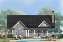 Dream House Plan - Country Exterior - Rear Elevation Plan #929-519