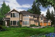 Craftsman Style House Plan - 5 Beds 4.5 Baths 5730 Sq/Ft Plan #132-179 Exterior - Rear Elevation