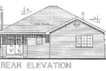 House Plan Design - Ranch Exterior - Rear Elevation Plan #18-1010