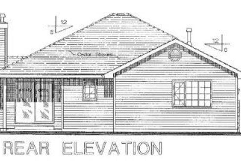 Ranch Exterior - Rear Elevation Plan #18-1010 - Houseplans.com