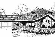 Contemporary Style House Plan - 4 Beds 4 Baths 2282 Sq/Ft Plan #60-640 Exterior - Front Elevation