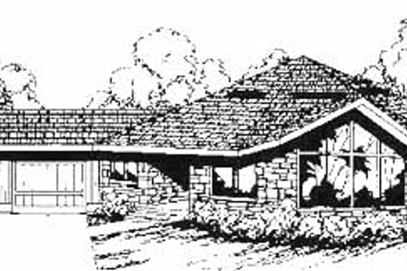 Home Plan - Contemporary Exterior - Front Elevation Plan #60-640