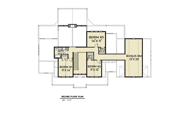 Cottage Floor Plan - Upper Floor Plan Plan #1070-72