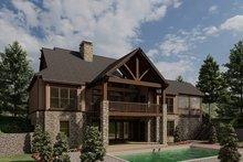 Dream House Plan - Craftsman Exterior - Rear Elevation Plan #923-21