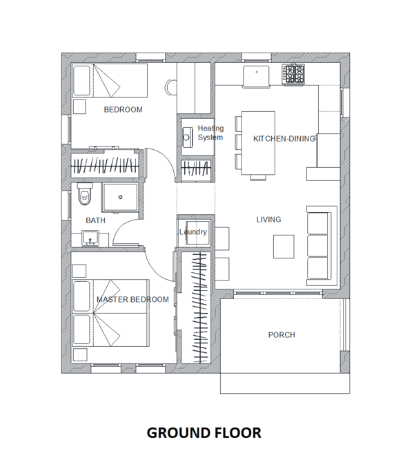 Contemporary Floor Plan - Main Floor Plan Plan #542-14