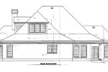 Southern Exterior - Rear Elevation Plan #410-146