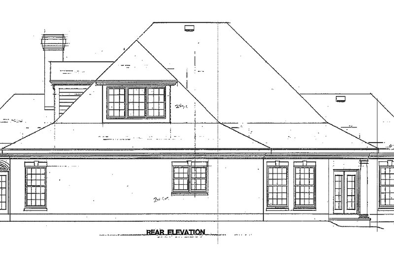 Southern Exterior - Rear Elevation Plan #410-146 - Houseplans.com