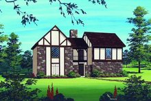 Home Plan - Traditional Exterior - Front Elevation Plan #45-296