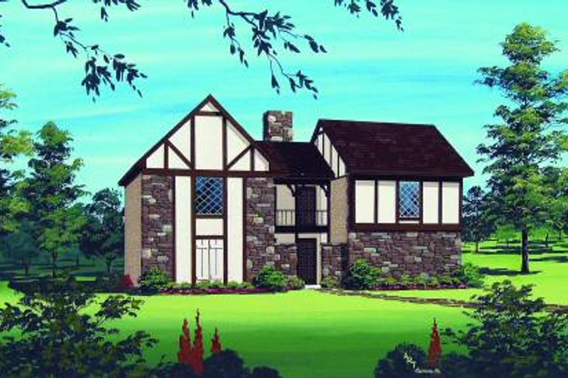 Traditional Style House Plan - 2 Beds 1.5 Baths 2322 Sq/Ft Plan #45-296 Exterior - Front Elevation