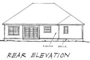 Traditional Style House Plan - 3 Beds 2 Baths 1447 Sq/Ft Plan #20-361 Exterior - Rear Elevation