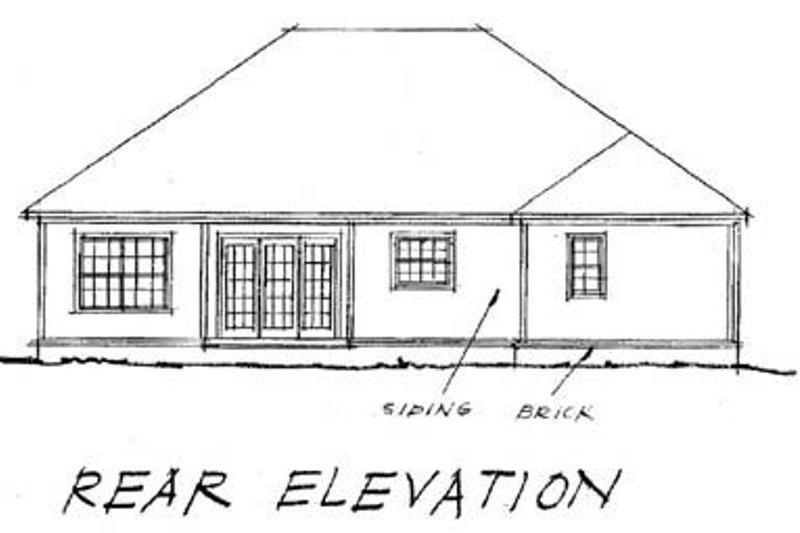 Traditional Exterior - Rear Elevation Plan #20-361 - Houseplans.com