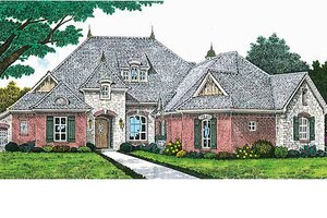 European Exterior - Front Elevation Plan #310-699