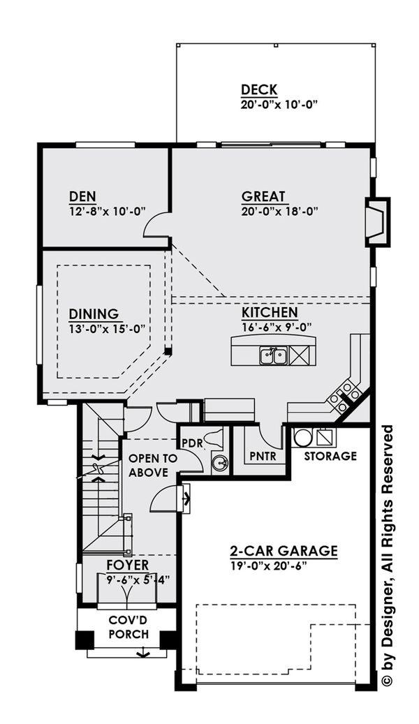 House Plan Design - Contemporary Floor Plan - Main Floor Plan #1066-5