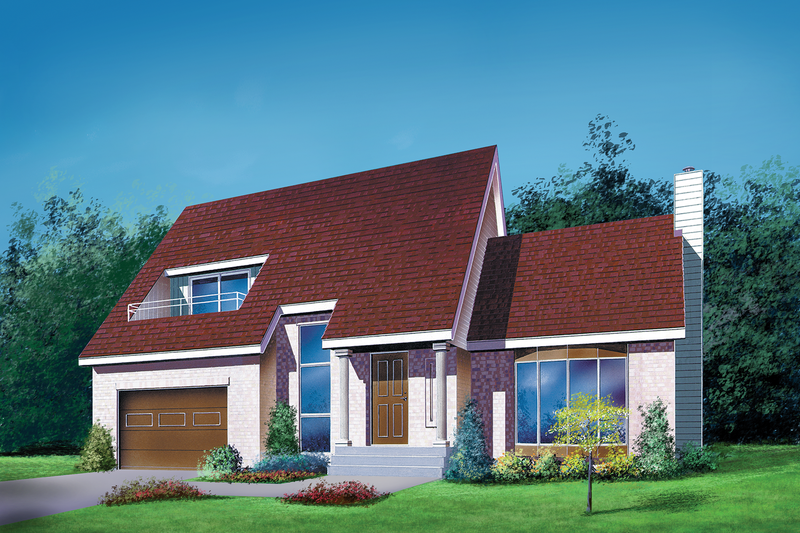 Traditional Style House Plan - 3 Beds 1.5 Baths 1699 Sq/Ft Plan #25-2161 Exterior - Front Elevation