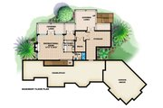 Country Style House Plan - 3 Beds 4.5 Baths 8918 Sq/Ft Plan #27-531 Floor Plan - Lower Floor Plan