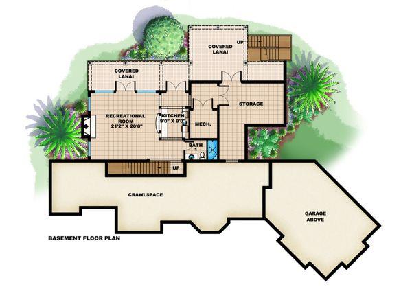 Country Floor Plan - Lower Floor Plan Plan #27-531