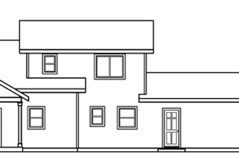 Traditional Exterior - Rear Elevation Plan #124-717 - Houseplans.com