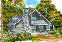 Cottage Exterior - Front Elevation Plan #47-101