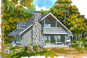 Cottage Exterior - Front Elevation Plan #47-101