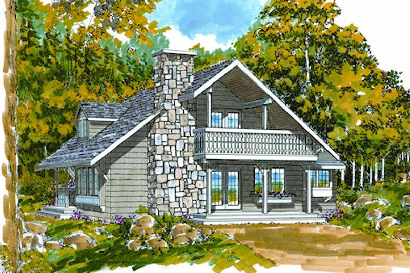 Dream House Plan - Cottage Exterior - Front Elevation Plan #47-101
