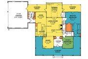 Country Style House Plan - 4 Beds 3 Baths 2252 Sq/Ft Plan #20-2041 Floor Plan - Main Floor Plan
