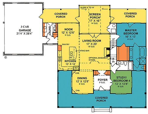 Country Floor Plan - Main Floor Plan #20-2041