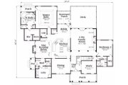 Traditional Style House Plan - 5 Beds 4.5 Baths 4416 Sq/Ft Plan #419-123 Floor Plan - Main Floor Plan