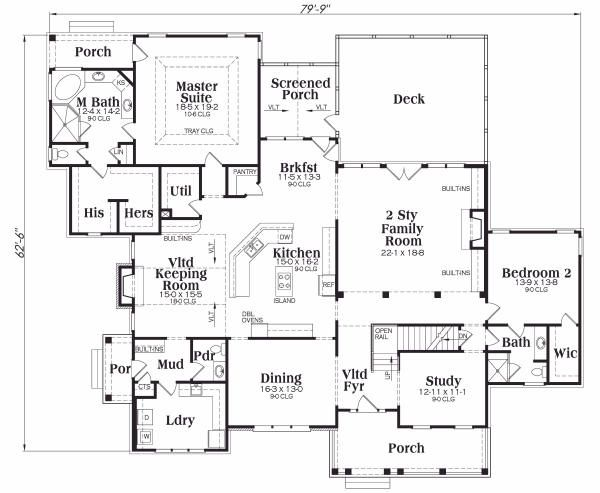 Traditional Floor Plan - Main Floor Plan Plan #419-123